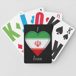 Iran flag bicycle playing cards