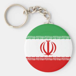 Iran Flag Button Keychain