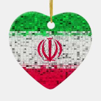 Iran Flag glitter ornament
