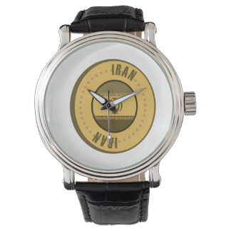 Iran Flag Gold Coin Watch