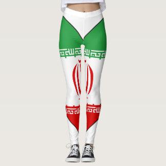 Iran Flag Heart Leggings