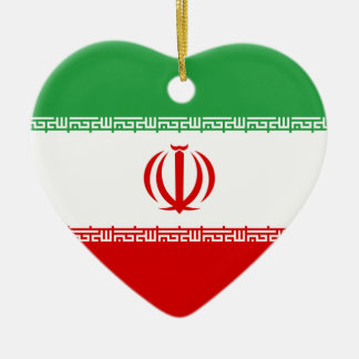 Iran Flag Heart Ornament