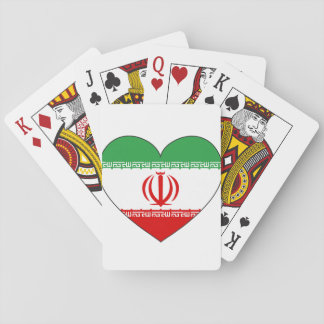 Iran Flag Heart Playing Cards