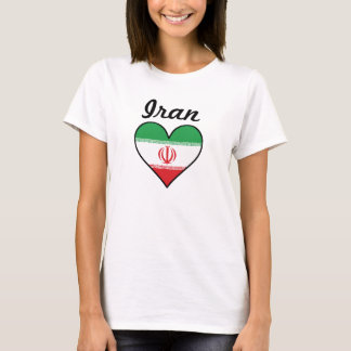 Iran Flag Heart T-Shirt