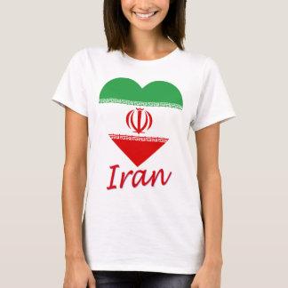 Iran Flag Heart T-Shirt
