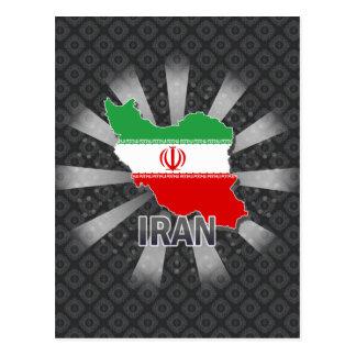 Iran Flag Map 2.0 Post Card