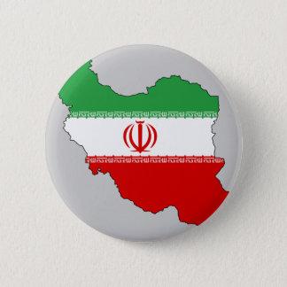 Iran flag map 6 cm round badge