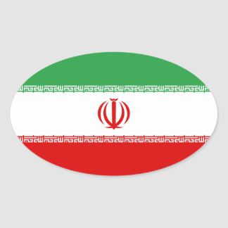 Iran Flag Oval Sticker