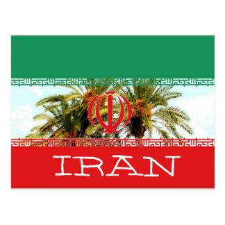 Iran flag post card