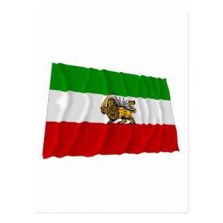 Iran Flag Waving (1925-1979) Postcard