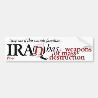 Iran Has WMD Bumper Stickers
