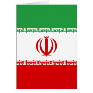 Iran IR , Flag, Coat of arms جمهوری اسلامی ایران Card
