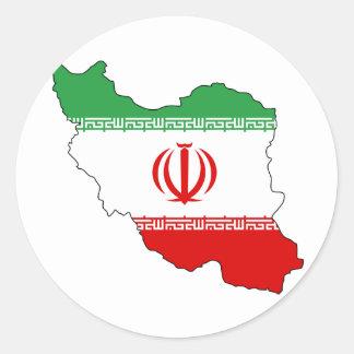 Iran IR , Flag, Coat of arms جمهوری اسلامی ایران Round Sticker