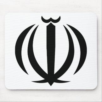 Iran IR , Flag, Coat of arms, Flag-map Mouse Mat