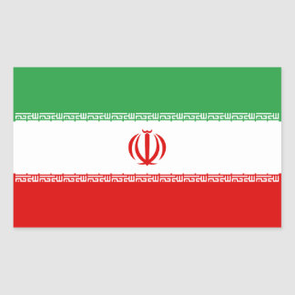 Iran/Iranian/Irani Flag Rectangular Sticker