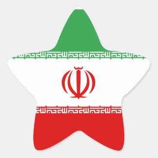 Iran/Iranian/Irani Flag Star Sticker