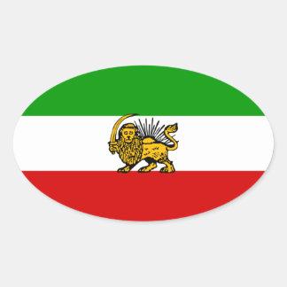Iran Lion Sun Flag Stickers