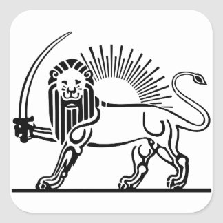 Iran Lion & Sun (Shir-O-Khorshid) Square Sticker
