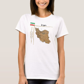 Iran Map + Flag + Title T-Shirt