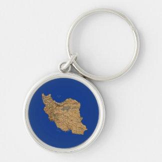 Iran Map Keychain