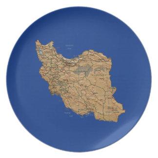 Iran Map Plate