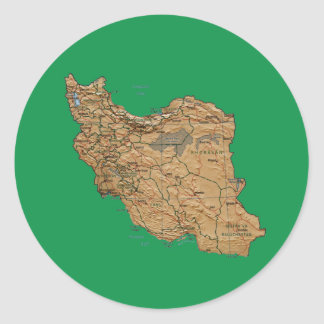 Iran Map Sticker