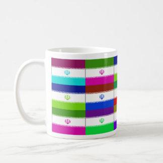 Iran Multihue Flags Mug
