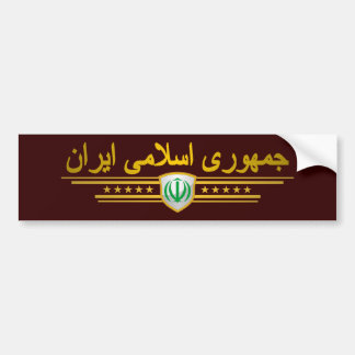 Iran National Emblem Bumper Sticker