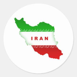 Iran Round Sticker