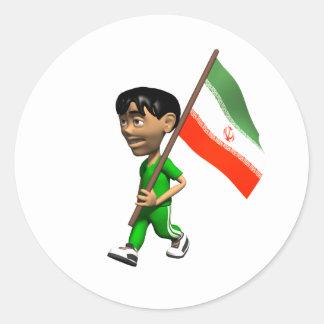 Iran Sticker Round Sticker