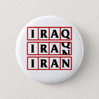 Iran to Iraq 6 Cm Round Badge