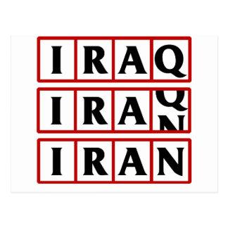 Iran to Iraq Postcard