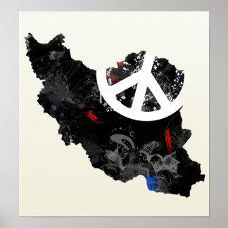Iran Trendy Peace Sign with Irani map