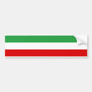 Iran Tricolor Stripe Bumper Sticker