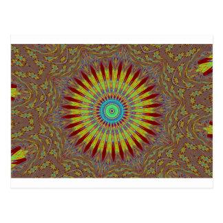 Iranian carpet  African ethnic tribal pattern.jpg Postcard