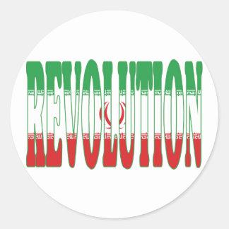 Iranian Revolution Round Stickers