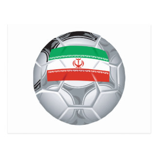 Iranian Soccer Ball Postcard