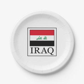 Iraq 7 Inch Paper Plate