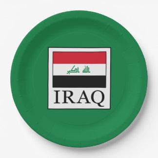 Iraq 9 Inch Paper Plate