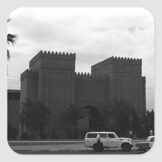 Iraq Baghdad museum 1970 Square Sticker
