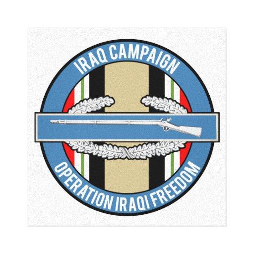 Iraq Campaign CIB Gallery Wrapped Canvas