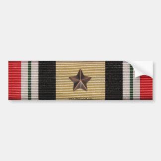 Iraq Campaign Medal Ribbon 1 Battle Star Sticker Bumper Sticker