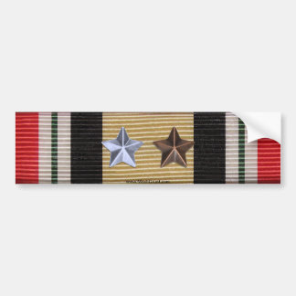 Iraq Campaign Medal Ribbon 6 Battle Stars Sticker Bumper Sticker