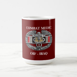 Iraq Campaign Ribbon Background CMB Mug