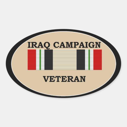 Iraq Campaign Veteran Sticker. Oval Sticker