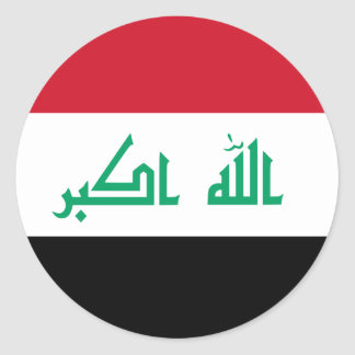 iraq classic round sticker
