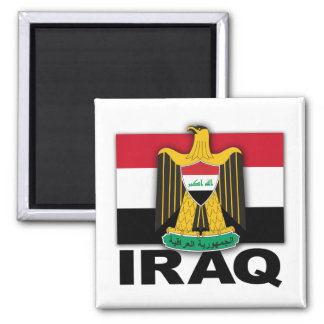 Iraq Coat of Arms Flag Magnet