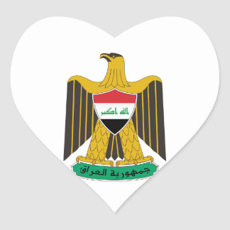 Iraq Coat of Arms Heart Sticker