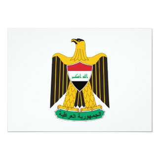 Iraq Coat of Arms Custom Announcements