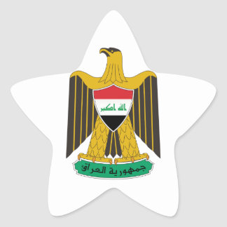 Iraq Coat of Arms Star Stickers